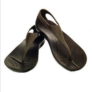 Crocs brown sandals size 8